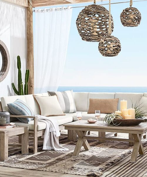 Indio Rustic Outdoor Sectional Set