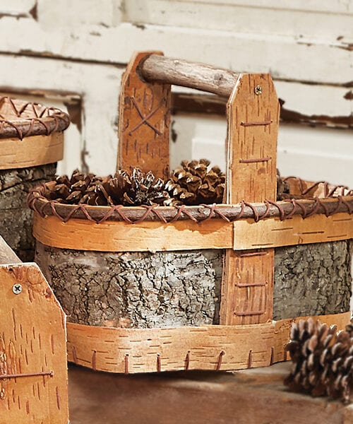 Authentic Birch Basket