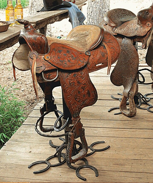 Authentic Saddle Barstool | Western Saddle Stool