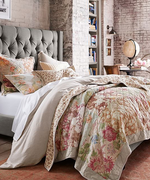 Reversible Floral Bedding