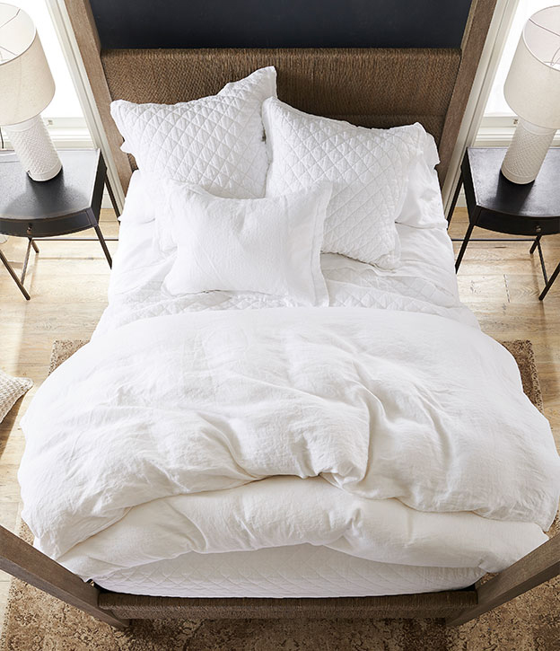 White Bedding | The Perfectly Unmade Bed
