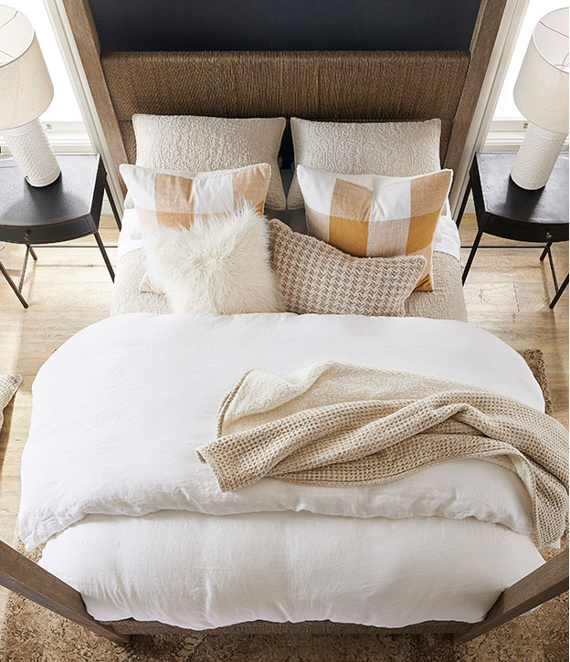 The White & Neutral Bed | White Bedrooms