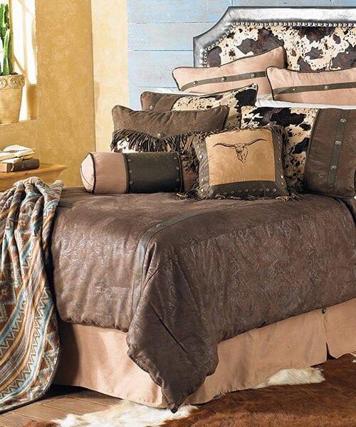 Caldwell Western Cowhide Bedding