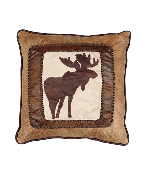 Chocolate Brown Moose Pillow