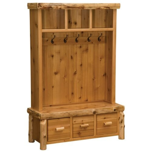 Cedar Log Entry Furniture