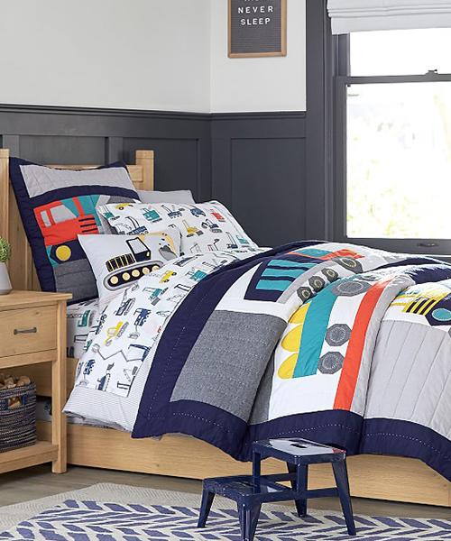 Kids Construction Quilt Bedding