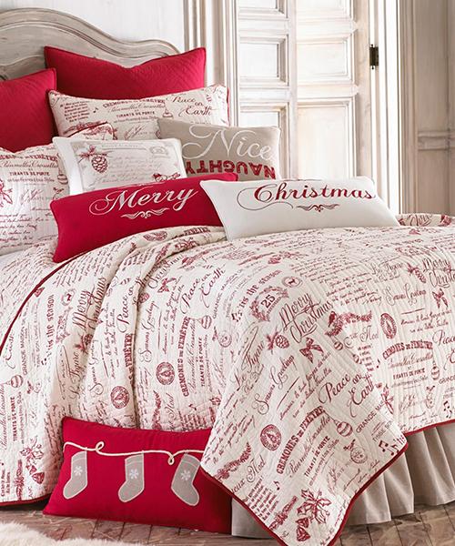 Farmhouse Christmas Bedding | Christmas Patchwork Quilt Bedding