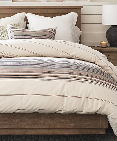 Trenton Organic Stripe Bedding
