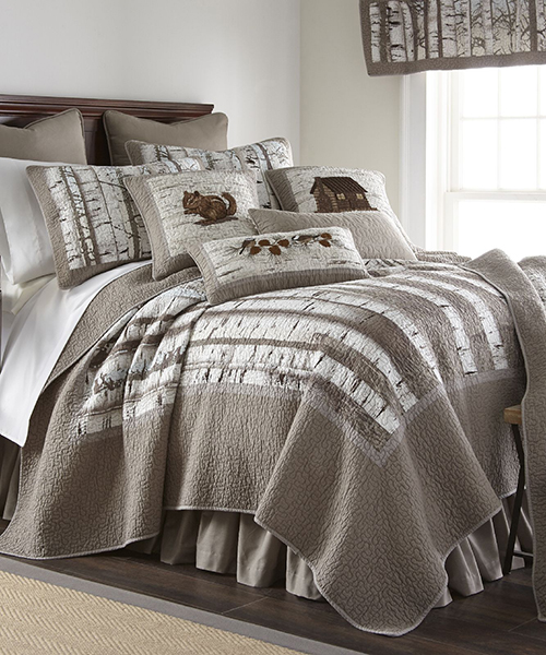 Donna Sharp Birch Forest Rustic Quilted Bedding