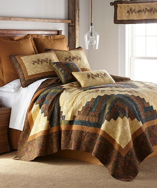 Donna Sharp Cabin Rustic Pine Cone Bedding