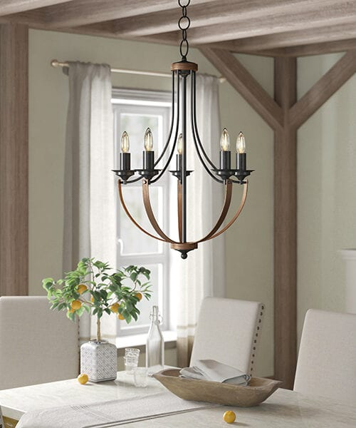 Kenna Candle Style Farmhouse Chandelier
