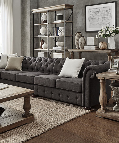 Grey Farmhouse Sofa