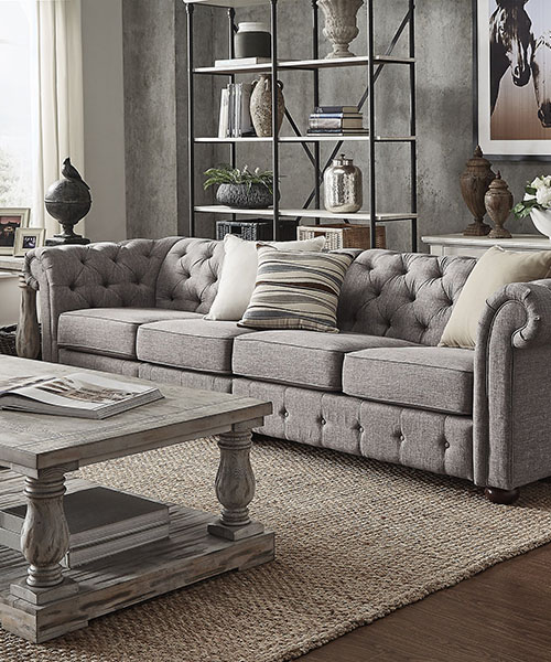 Farmhouse Grey Modular Sofa