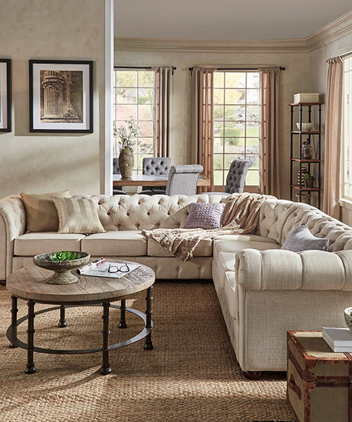 Knightbridge Farmhouse Style Sofa