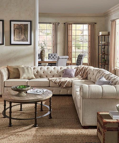 Knightbridge Farmhouse Style Sofa