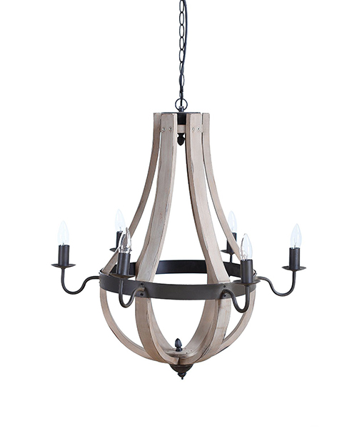 Create Co-op Wood & Metal Chandelier
