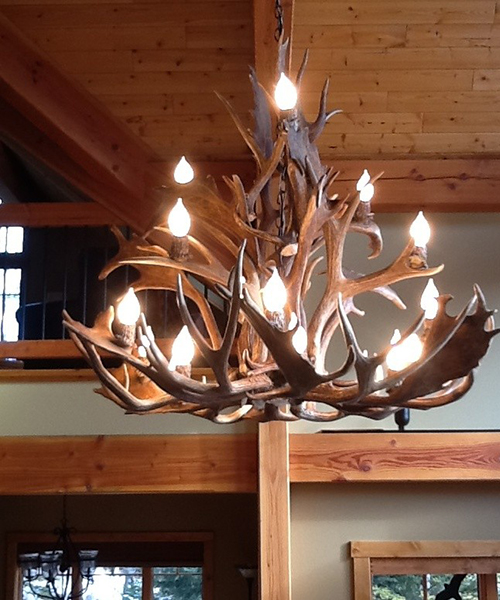 Real Deer Antler Chandelier