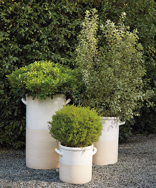 Dip-Dyed Glazed Outdoor Planters