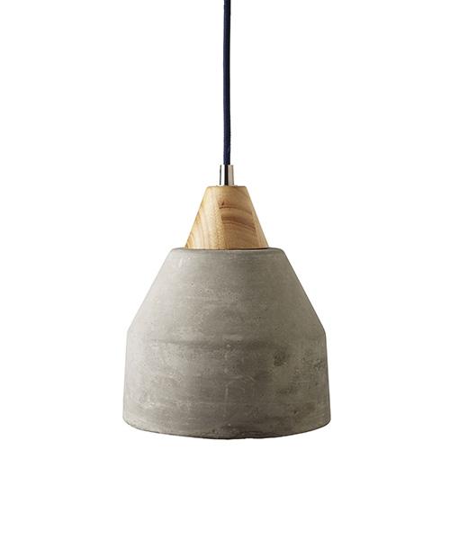 Knolls Concrete & Wood Pendant