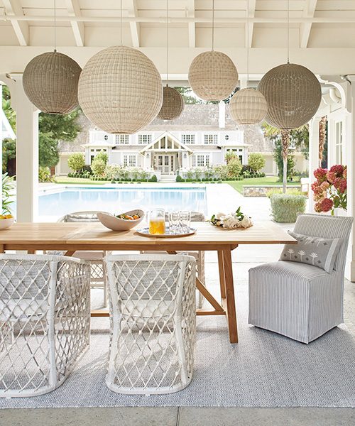 Pacifica Wicker Outdoor Pendants