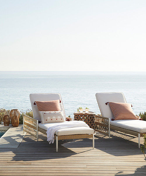 Salt Creek Reclining Outdoor Chaise