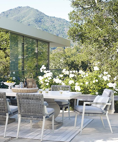 Grey Outdoor Armchair
