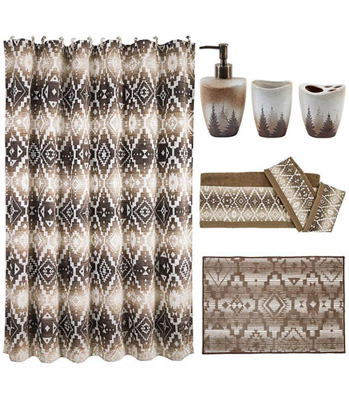 Chalet Aztec Southwestern Bathroom Set