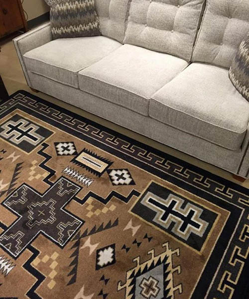 Double Cross Rustic Southwest Area Rug