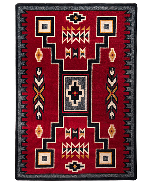 Old Crow Red Southwest Area Rug