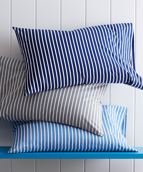 Aiden Stripe Percale Bedding | Kids Stripe Bedding
