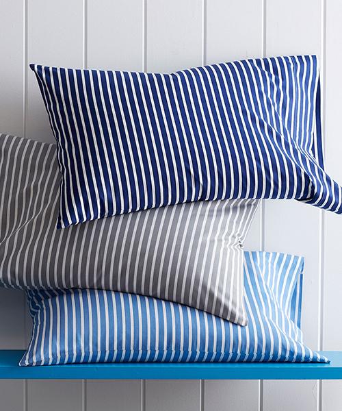 Aiden Stripe Percale Bedding   Kids Stripe Bedding