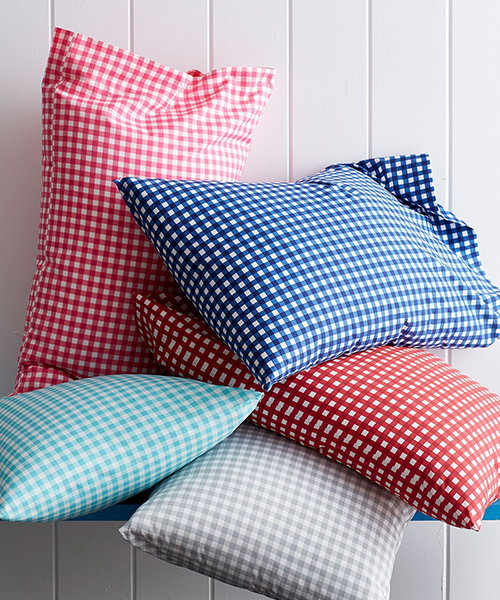 Kids Gingham Percale Bedding