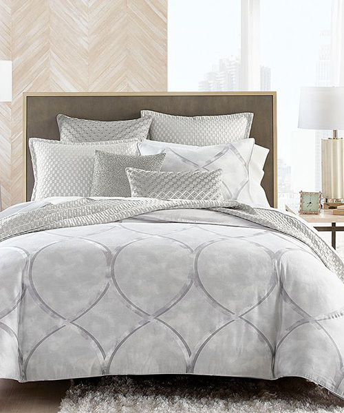Hudson Park Linea Contemporary Bedding Ensemble