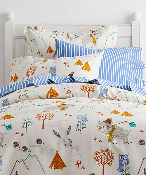 Kids Camping Theme Bedding