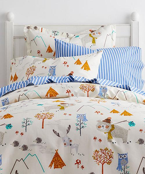 Kids Camping Theme Bedding