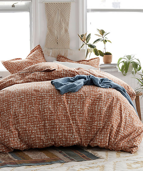 Cstudio Modern Orange Duvet Cover