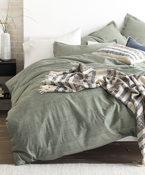 Cstudio Green Canvas Bedding