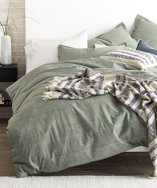 Cstudio Green Canvas Bedding