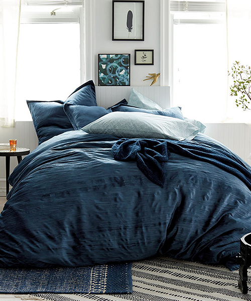 Blue Velvet Duvet Cover