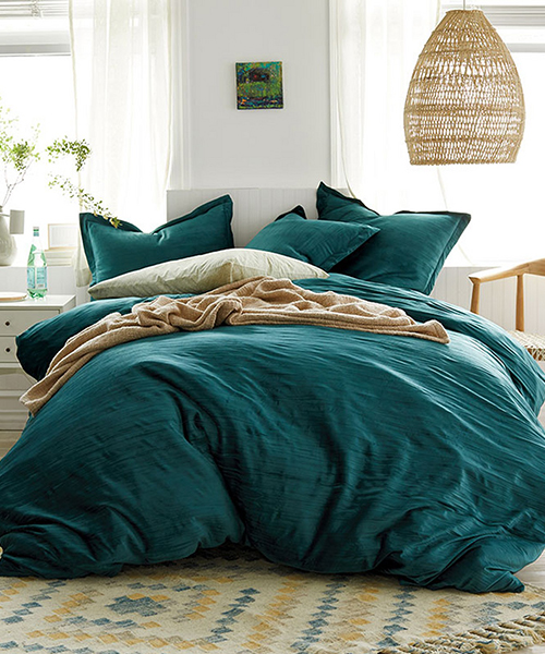 Green Velvet Duvet Cover