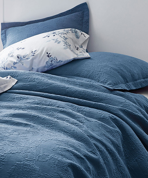 Blue Coverlet Blanket