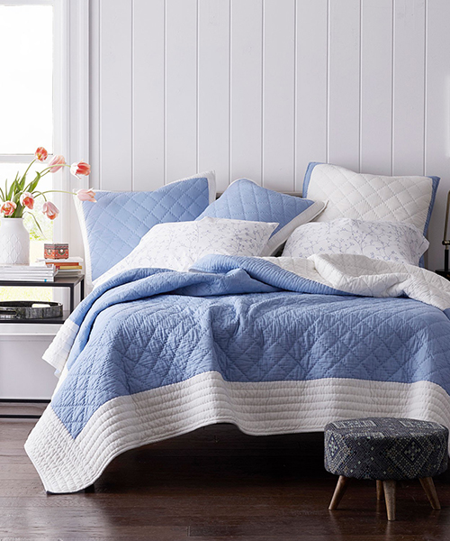 Blue Quilt Bedding