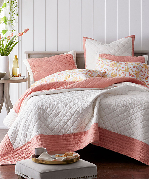Orange Quilt Bedding