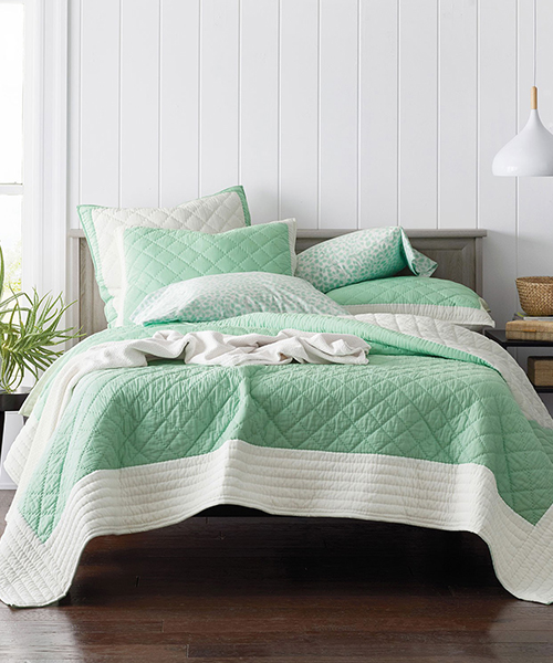 Green Quilt Bedding