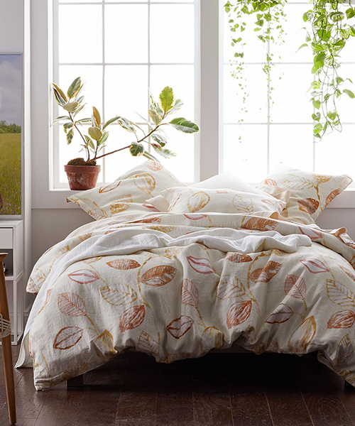 Textured Leaf Duvet Cover