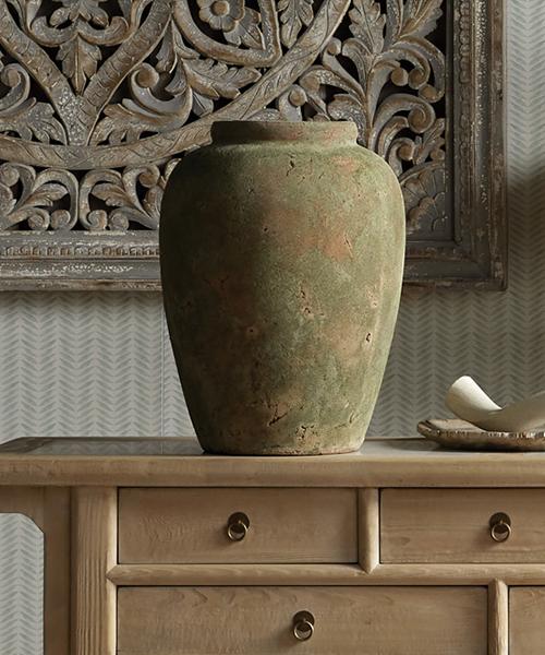 Amphora Terracotta Rustic Vase   Modern Rustic Decor   Cabin Decor