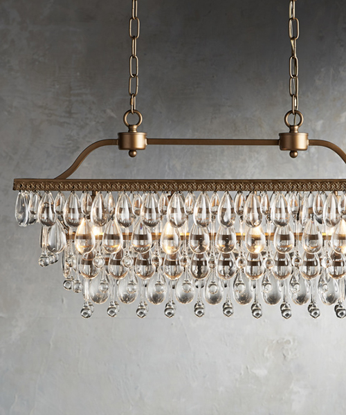 Anabella Crystal Droplet Chandelier