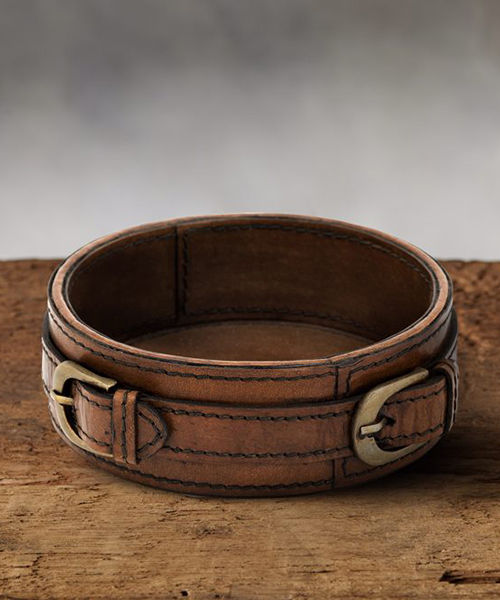 Andres Rustic Leather Wine Coaster