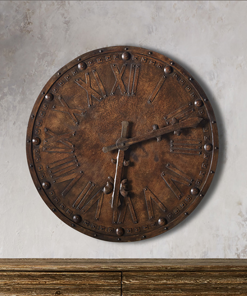 Antique Iron Wall Clock