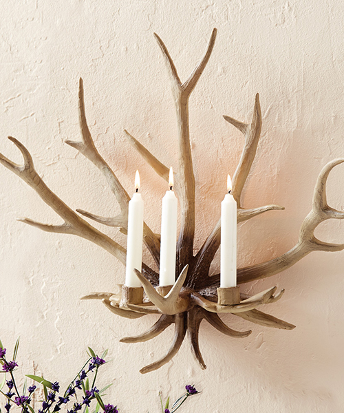 Antler Wall Candle Sconce